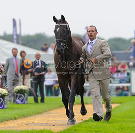 Murray Lamperd and UNDER THE CLOCKS - The first vets inspection (trot up),  Land Rover Burghley Horse Trials, 3rd September 2...