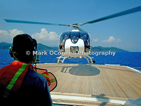 Heli ops on Princess Mariana