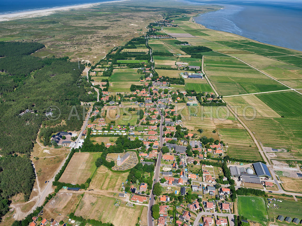 aerial view | Terschelling, Hoorn is a traditional