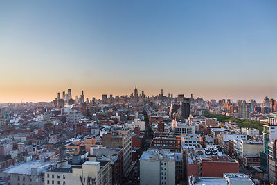 Vue d'ensemble de Manhattan depuis le quartier chinois, Mahattan, New York, USA / Overview of Manhattan from Chinatown, Manha...