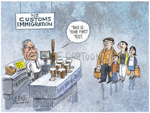 Winston Peters Immigration Test