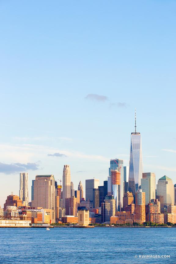 MANHATTAN SKYLINE FREEDOM TOWER NEW YORK CITY NEW YORK COLOR VERTICAL