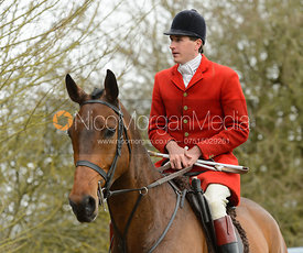 Otis Ferry on the road - The South Shropshire and Belvoir Hunts at Belvoir Castle 11/3/17