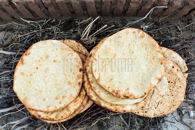 Freshly Baked Bread from a Tandoor Oven