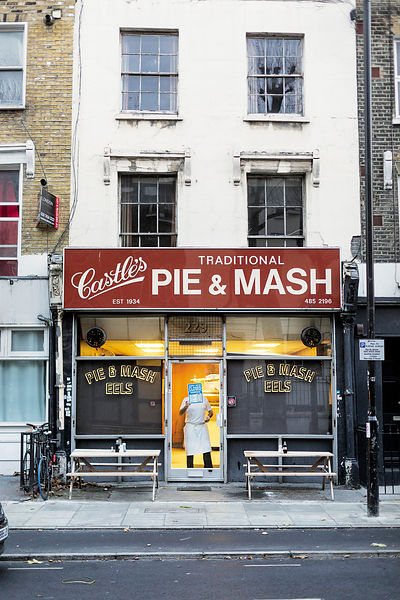 Castles Pie and Mash shop, London