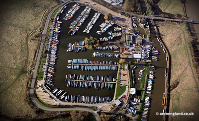 aerial photograph of  Sawley Marina Long Eaton Nottinghamshire NG10 3AE UK