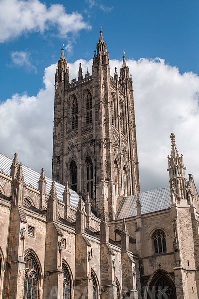 UK, England, Canterbury Cathedral, Low Angle View
