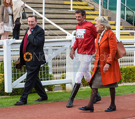 Nicky Henderson, Sir Mark Todd - Presentation - Champions Willberry Charity Flat Race - Cheltenham Racecourse, April 20th 2017