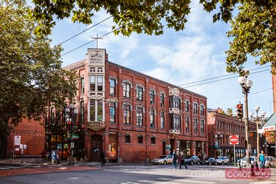 Street view, Pioneer square district, Seattle, Etats-Unis