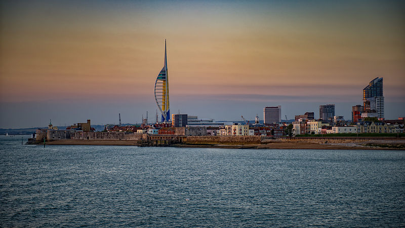 Spinnaker Tower at Dusk