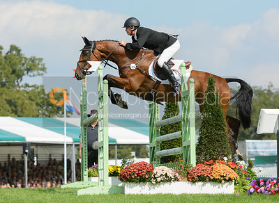 Matthew Heath and THE LION - show jumping phase, Burghley Horse Trials 2014.