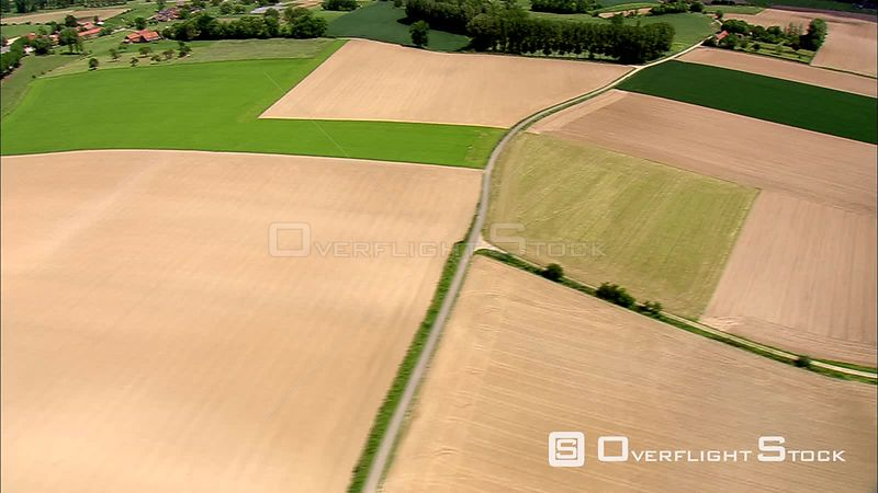 Flying over agricultural land in Flanders, Belgium