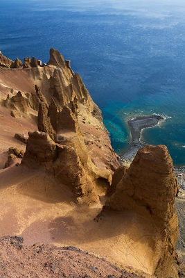 Coastal cliffs, Deserta Grande, Desertas Islands, Madeira, Madeira, Portugal, August 2009