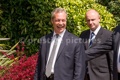 Politician Nigel Farage (founder of UKIP) in St James Park, London
