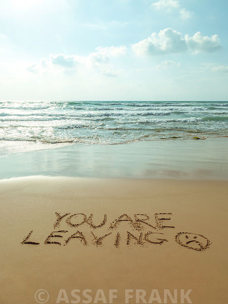 Beach writing - You are leaving