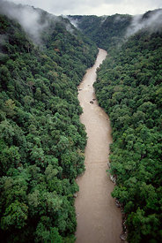 Jimi River flowing through Schrader Ranges, Highlands, Papua New Guinea