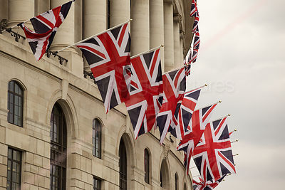 Union Jack Flags in London