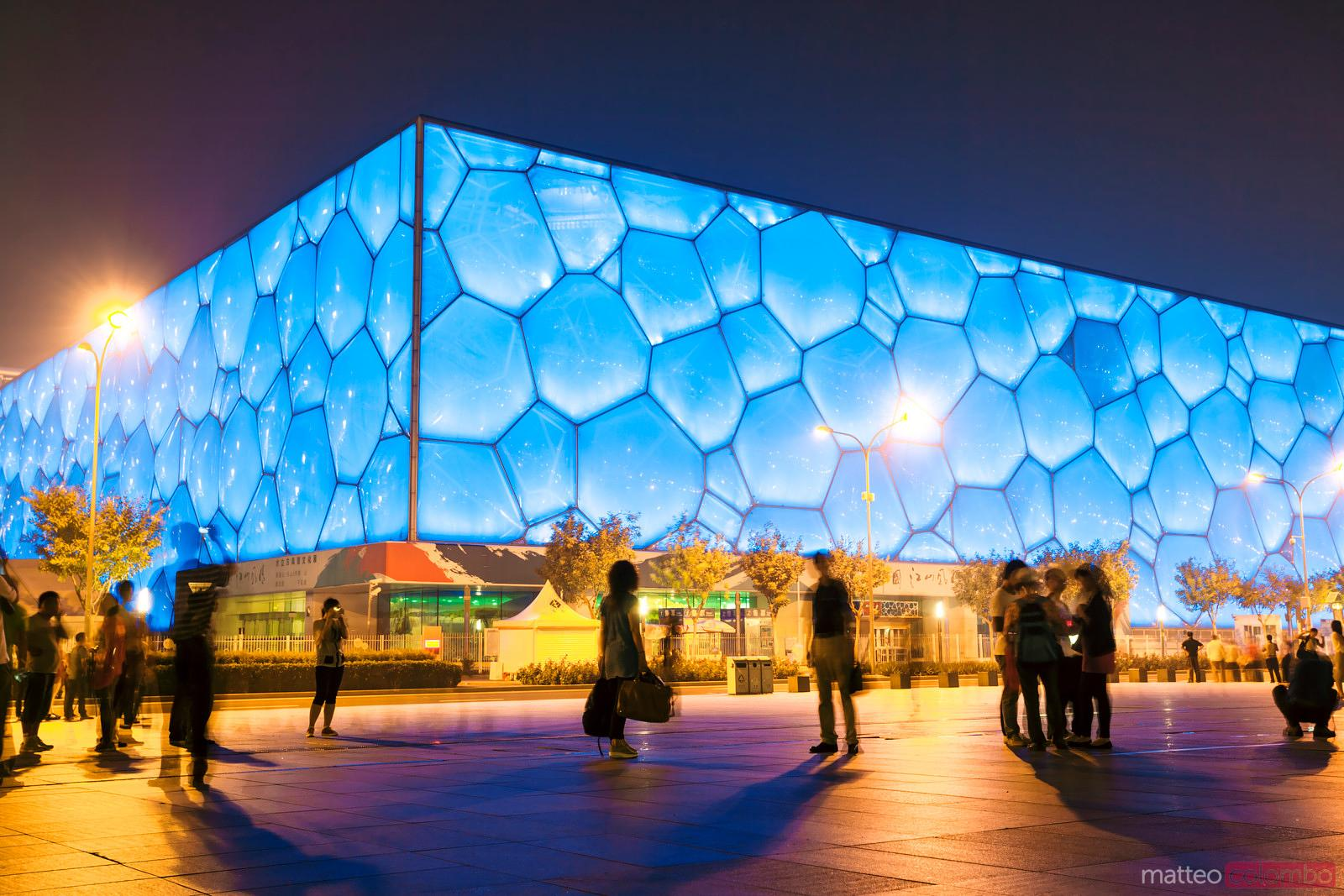 National acquatics olympic center in Beijing