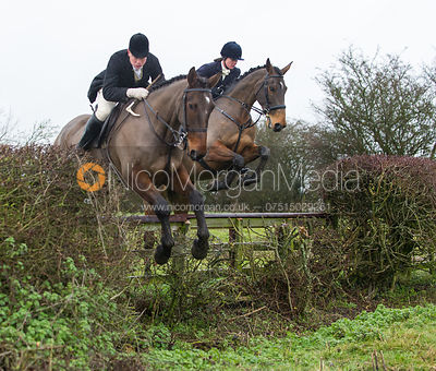 Cottesmore Hunt at Dene Bank Farm 4/12