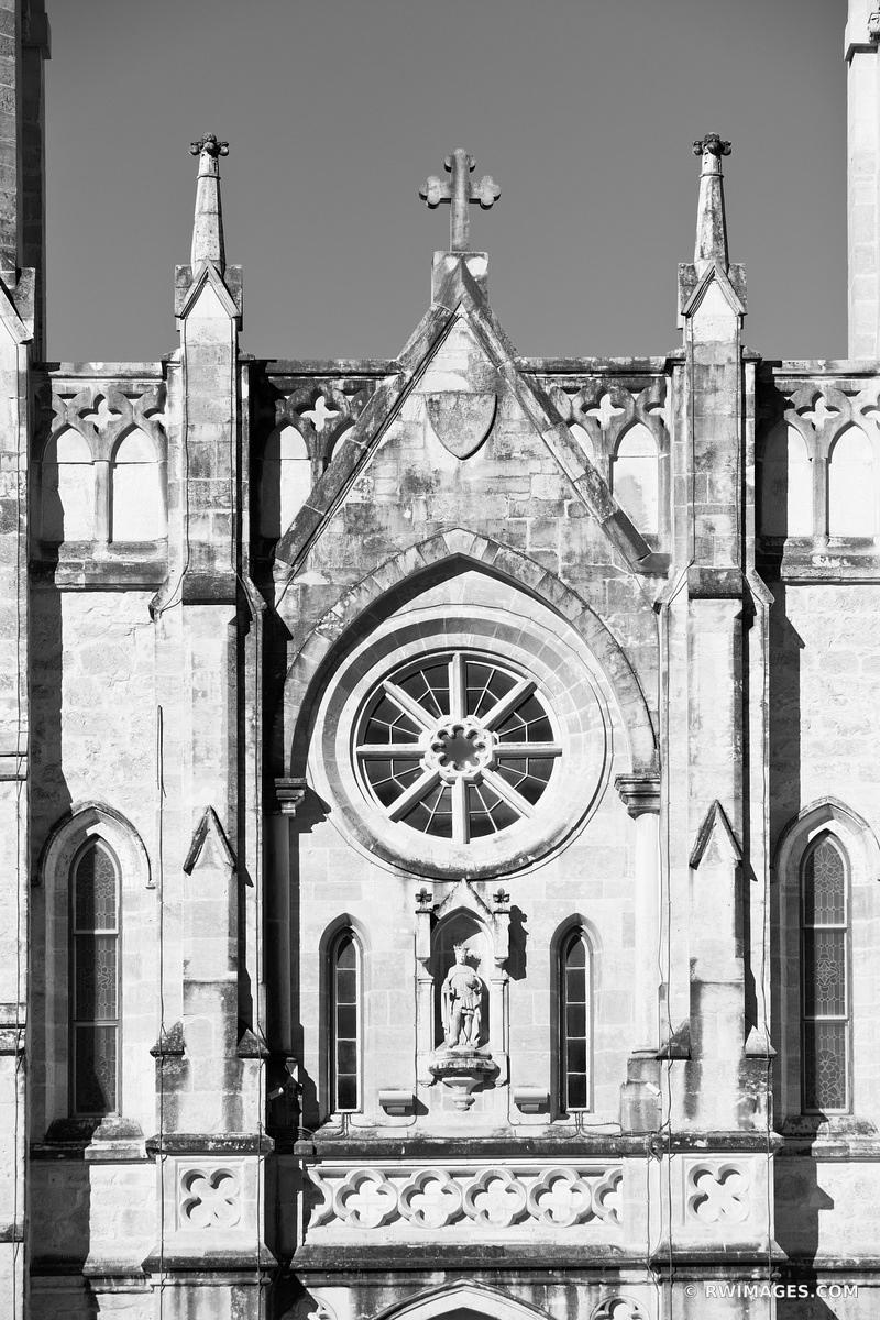 SAN FERNANDO CATHEDRAL SAN ANTONIO TEXAS BLACK AND WHITE
