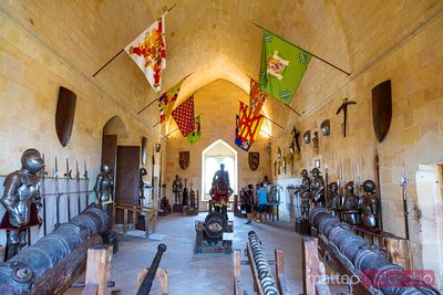 Weapons room inside the Alcazar castle, Segovia, Spain