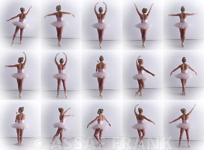 Collage of young female ballerina