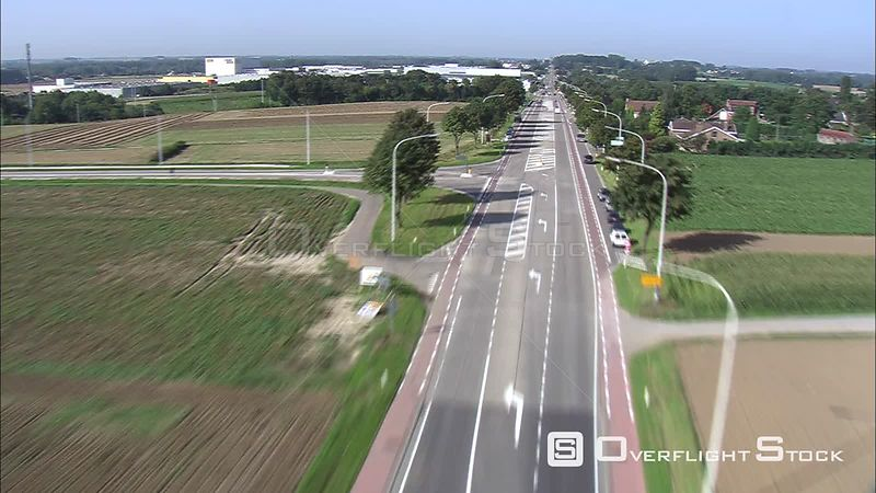 Above a highway on the outskirts of Tongeren, Belgium