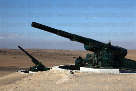 Artillery battery at monument on site of Battle of Alto de la Alianza , near Tacna , Peru