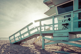 Lifeguard Tower 15 Santa Monica California Photo