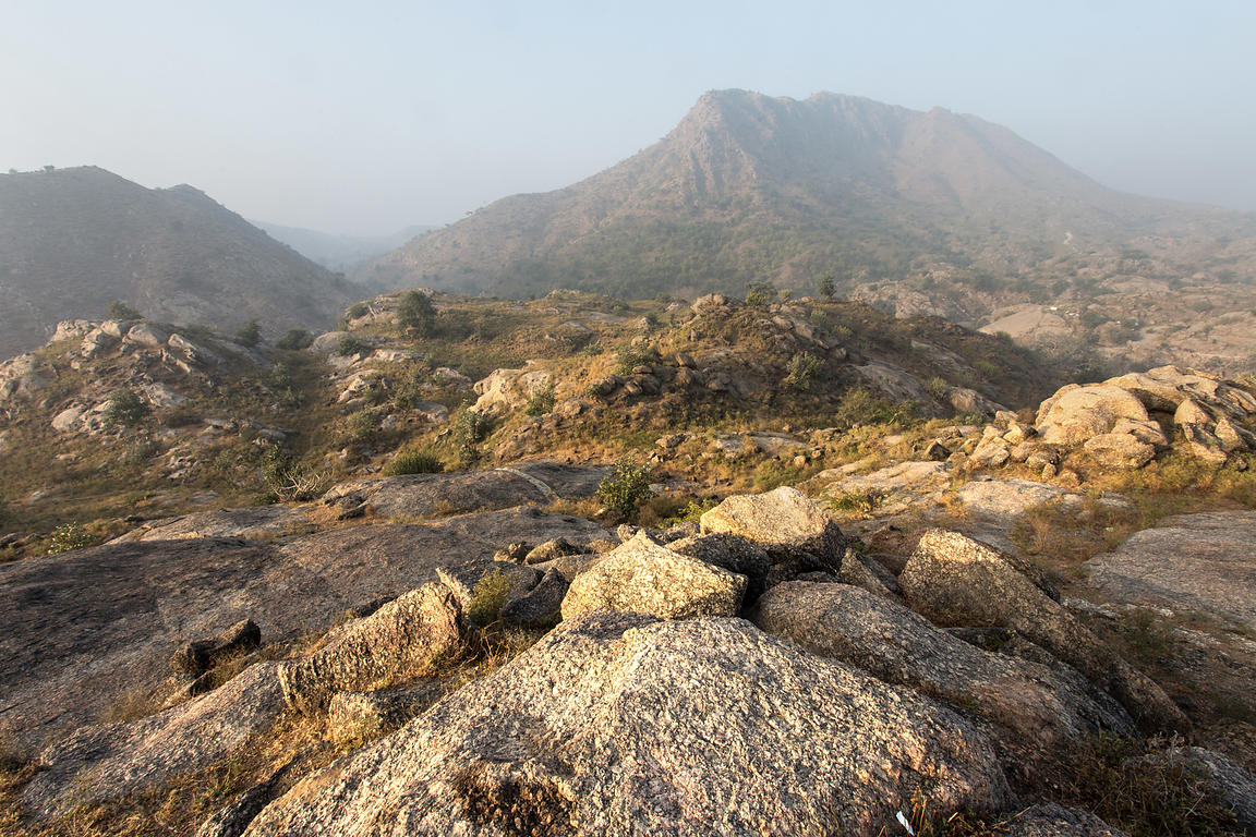 Rocky desert and Aravali Mountains, Ajaypal, Rajasthan, India