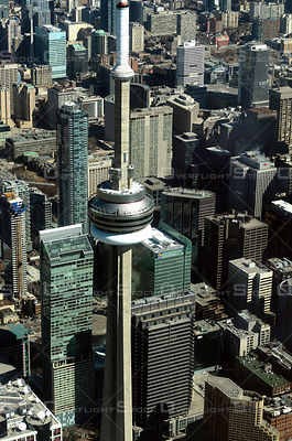 Downtown Core of the City of Toronto with CN Tower