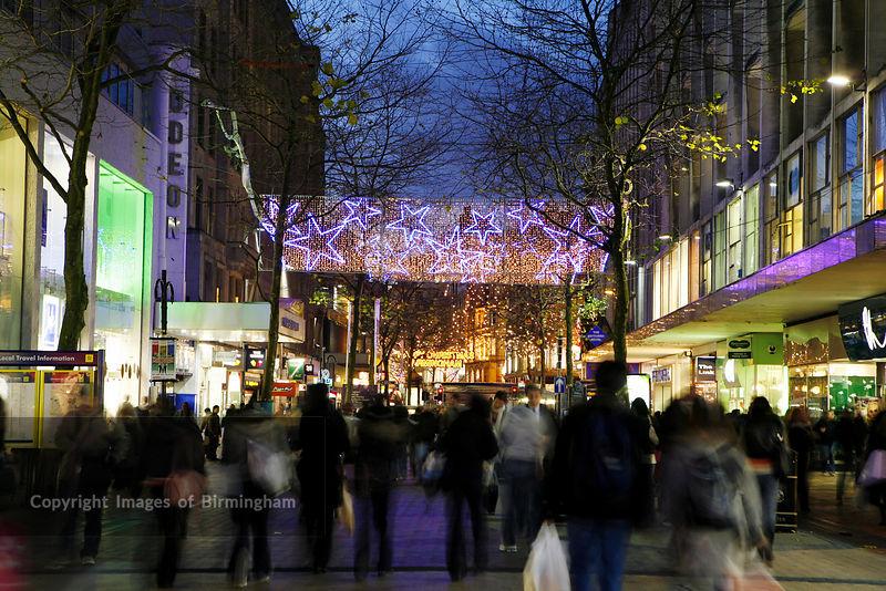 Birmingham Christmas Lights.Images Of Birmingham Photo Library Birmingham City Centre