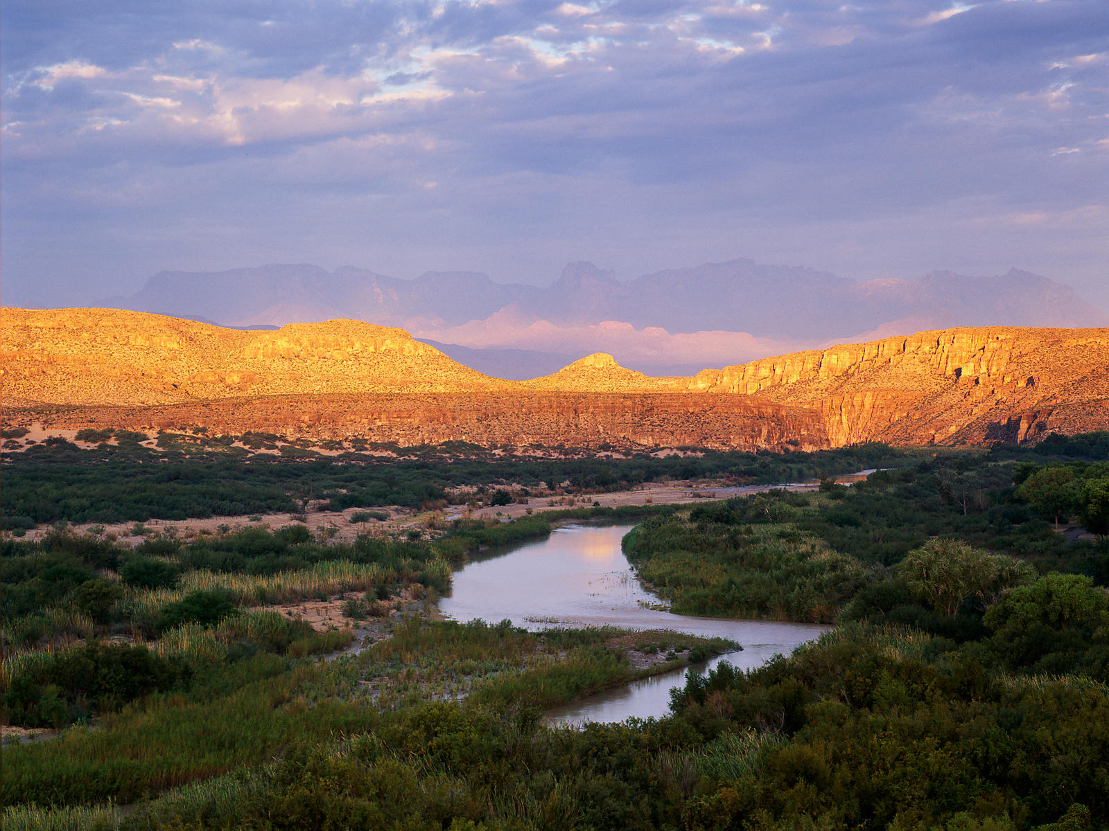 Rio Grande and the Chisos Mountains