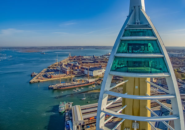 Aerial View of Spinnaker Tower Viewing Decks