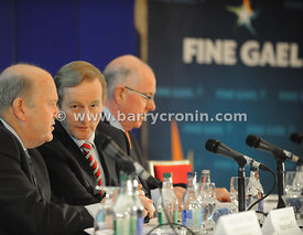 16th September 2013. Fine Gael parliamentary  meeting in The Hermitage, Killenard, County Laois.Pictured from left: Michael N...
