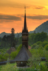 Wooden church from Maramures, Romania
