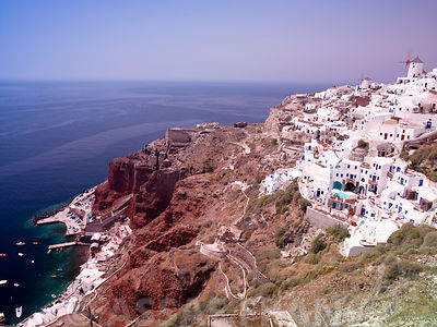 Greece, Santorini Island, aerial view