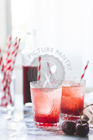 Cherry soda cocktail