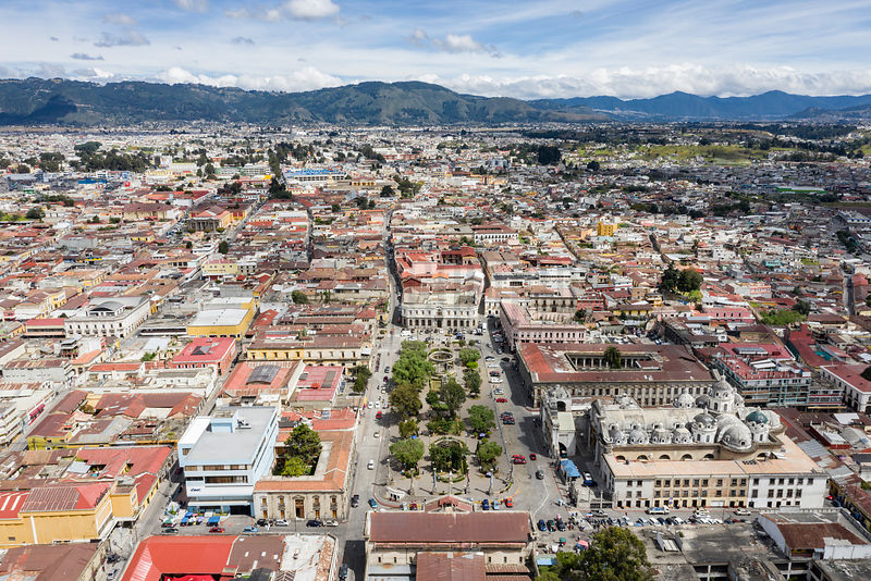 Aerial View of the City of Quetzaltenango