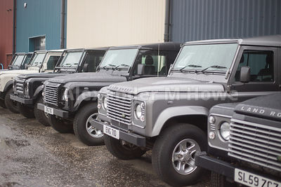 Land Rovers on display at Land Rover specialists Engine 710