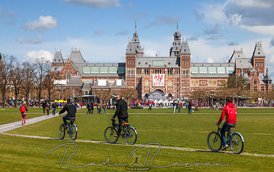 Riding Bicycles in Amsterdam