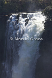 The Devil's Cataract (73m) at the western end of Victoria Falls, Zimbabwe and Zambia