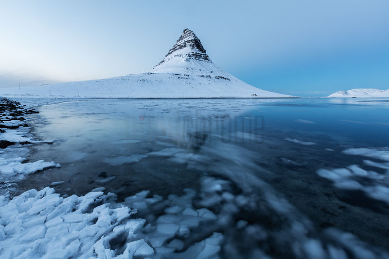 Kirkjufell Mountain Reflected at Dusk