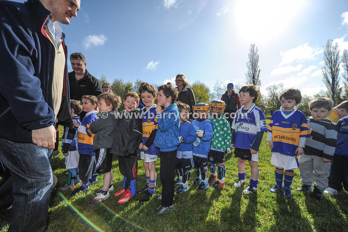 21st April, 2012. Castleknock GFC football nursery, Carpenterstown, Dublin. Pictured are some of the younger members of the c...