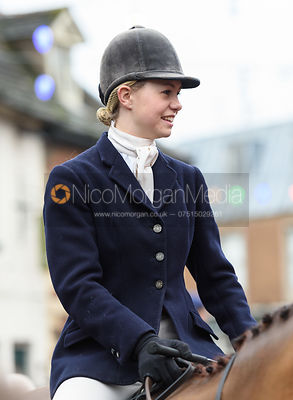 Marina Bealby At the meet. The Cottesmore Hunt Boxing Day Meet in Oakham 26/12