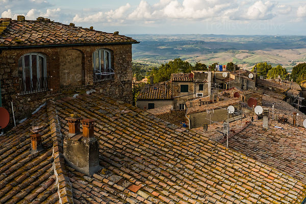 View from Casa Torre Toscano in Volterra, Italy