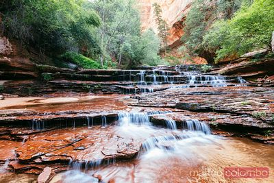 Arch Angel Falls, Zion Canyon National Park, Utah, USA