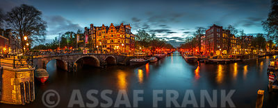 Amsterdam in evening