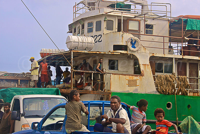 Port Vila, Efate, the harbor year 2009