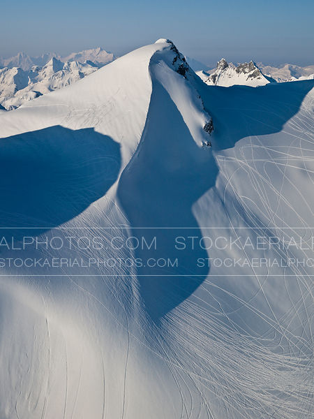 Snowmobile Tracks Mountain